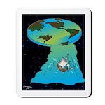 Flat Earth Cartoon 7540 Mousepad