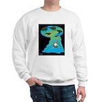 Flat Earth Cartoon 7540 Sweatshirt