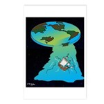 Flat Earth Cartoon 7540 Postcards (Package of 8)