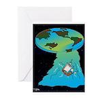 Flat Earth Cartoon 7540 Greeting Cards (Pk of 20)