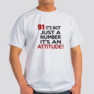 91 It Is Just A Number Birthday Desi Light T-Shirt