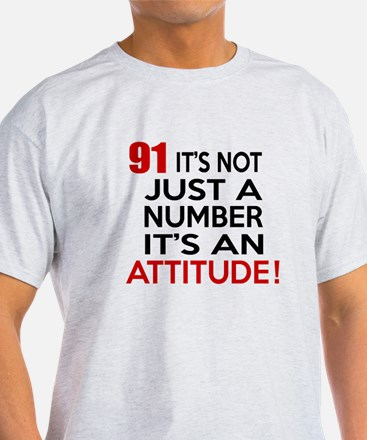 91 It Is Just A Number Birthday Desi T-Shirt