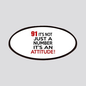 91 It Is Just A Number Birthday Designs Patch
