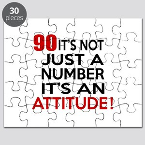90 It Is Just A Number Birthday Designs Puzzle