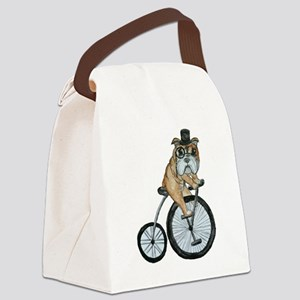 English Bulldog Canvas Lunch Bag