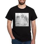Cat Cartoon 6893 Dark T-Shirt