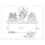 Cat Cartoon 6893 Small Poster
