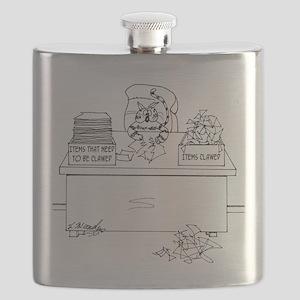 Cat Cartoon 6893 Flask