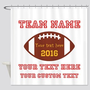 Football Personalized Shower Curtain