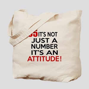 65 It Is Just A Number Birthday Designs Tote Bag