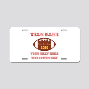 Football Personalized Aluminum License Plate
