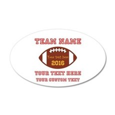 Football Personalized Wall Decal