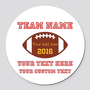 Football Personalized Round Car Magnet