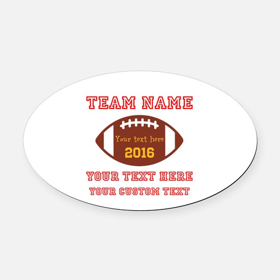 Football Personalized Oval Car Magnet