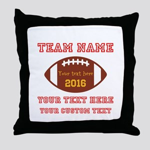 Football Personalized Throw Pillow