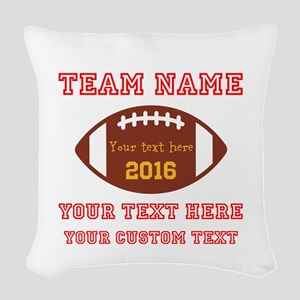 Football Personalized Woven Throw Pillow