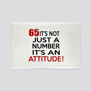 65 It Is Just A Number Birthday D Rectangle Magnet