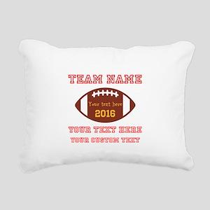 Football Personalized Rectangular Canvas Pillow