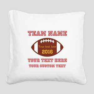 Football Personalized Square Canvas Pillow