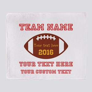 Football Personalized Throw Blanket