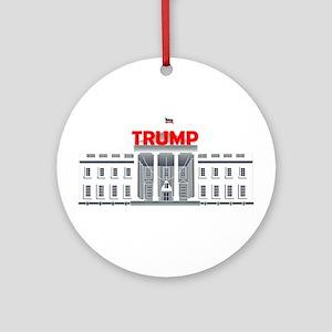 Trump White House Round Ornament