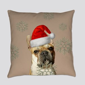 Christmas French Bulldog Everyday Pillow