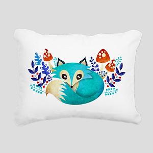 Winter Fox Rectangular Canvas Pillow