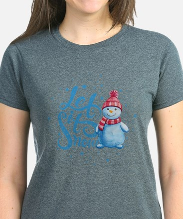 Let It Snowman Women's Dark T-Shirt