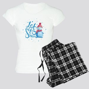 Let It Snowman Women's Light Pajamas