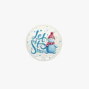 Let It Snowman Mini Button