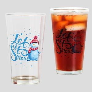 Let It Snowman Drinking Glass