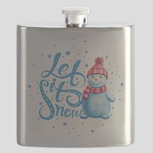 Let It Snowman Flask