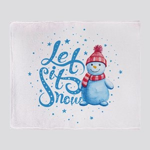 Let It Snowman Throw Blanket