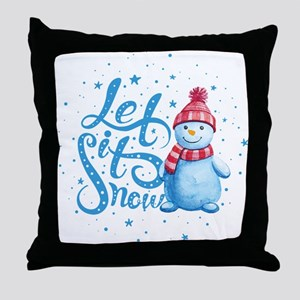 Let It Snowman Throw Pillow