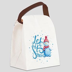 Let It Snowman Canvas Lunch Bag