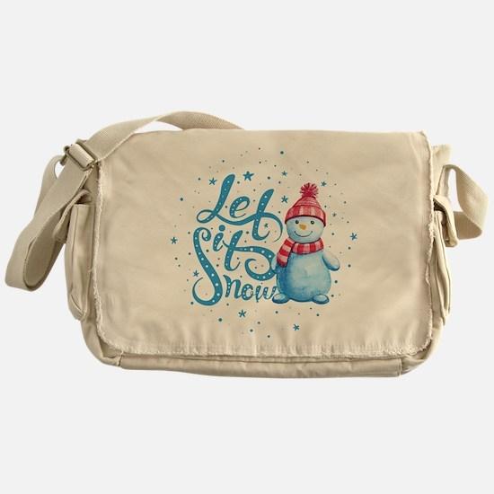 Let It Snowman Messenger Bag