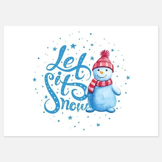 Let It Snowman 5x7 Flat Cards