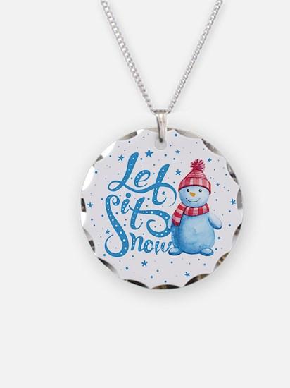 Let It Snowman Necklace