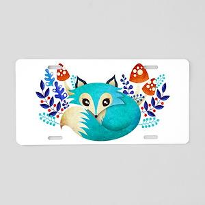 Winter Fox Aluminum License Plate