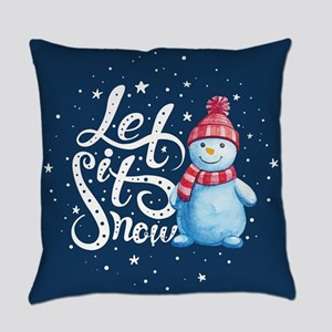 Let It Snowman Everyday Pillow
