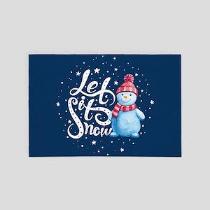 Let It Snowman 4' x 6' Rug