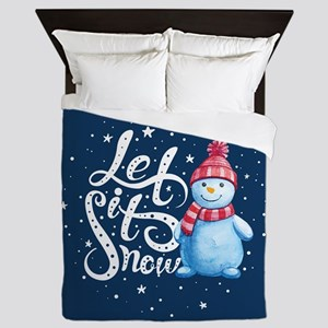 Let It Snowman Queen Duvet