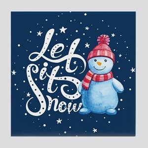 Let It Snowman Tile Coaster