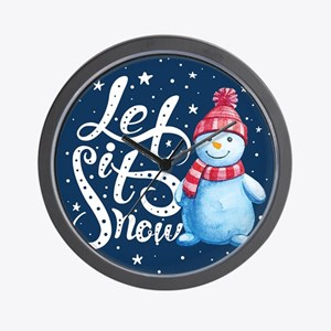 Let It Snowman Wall Clock