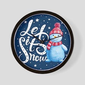 Let It Snowman Wall Clock