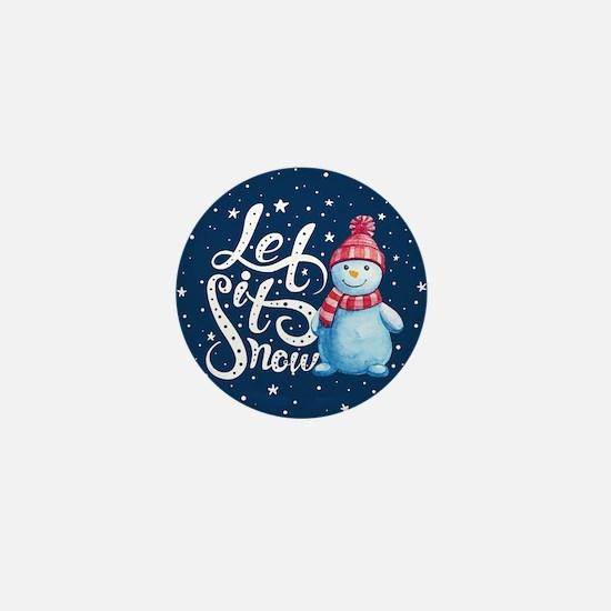 Let It Snowman Mini Button (100 pack)