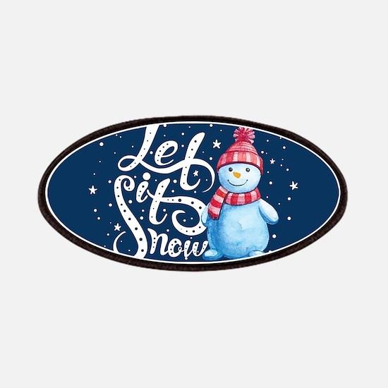 Let It Snowman Patch