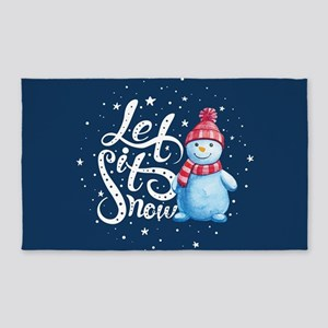Let It Snowman Area Rug