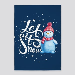 Let It Snowman 5'x7'Area Rug