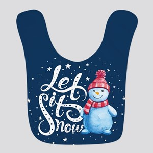 Let It Snowman Polyester Baby Bib